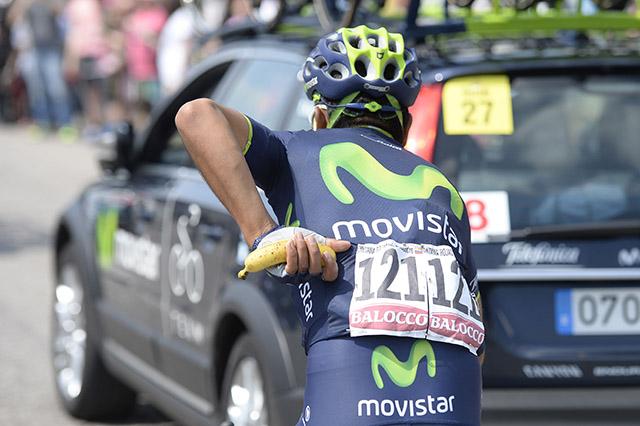 קינטאנה (מוביסטאר) לא שוכח את הבננה. צילום:  Fabio Ferrari - LaPresse