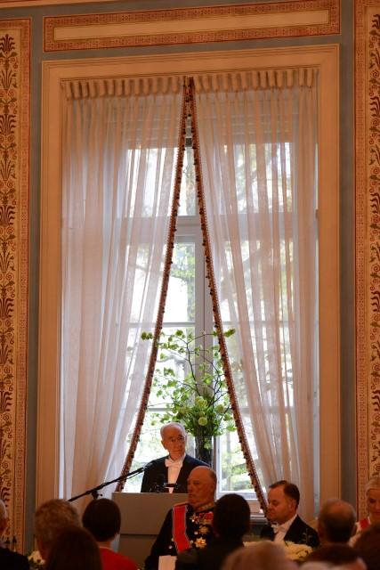 """בארוחת הערב הממלכתית בארמון המלך הראלד ה-5 (צילום: חיים צח/לע""""מ)"""