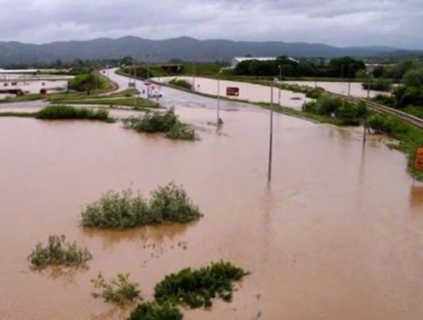 שטפונות והצפות בבוסניה (צילום מסך)