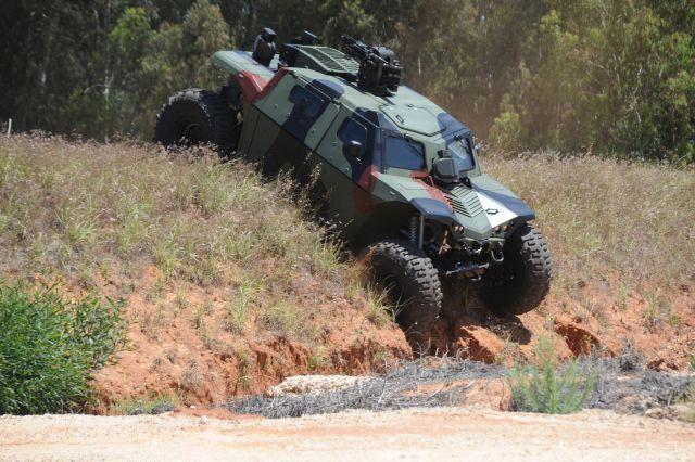 חשיפה: שומר ראש של תעש - רכב קרבי משוריין. צילום יח