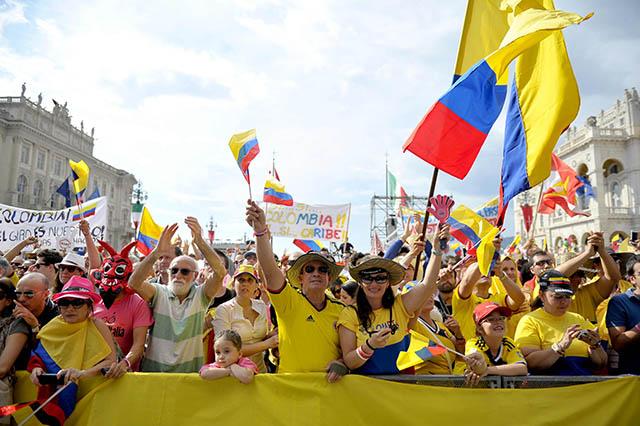 הקולומביאנים מראים נוכחות (גם) בטריאסטה. צילום: Marco Alpozzi / lapresse