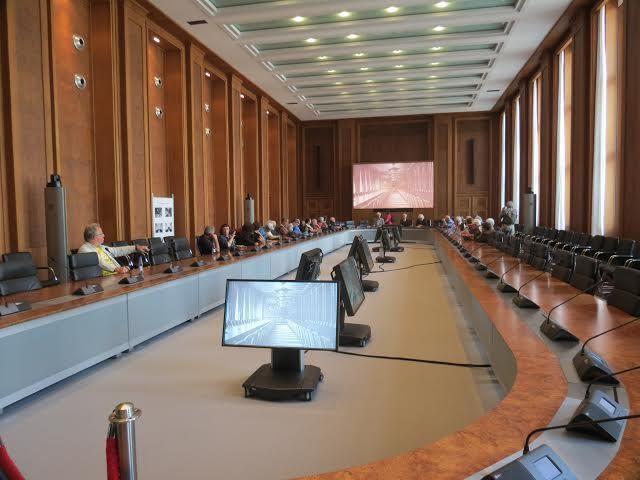 אולם אירופה במשרד האוצר ששימש כמטה הלופטוואפה. (צילום: אודי בן זאב)