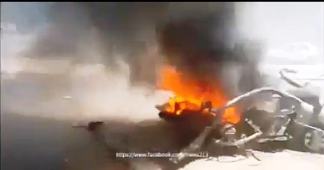 מכונית המחבל לאחר הפגיעה (צילום מסך)
