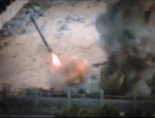 ירי רקטה מעזה (צילום מסרטון ווידאו של החמאס)