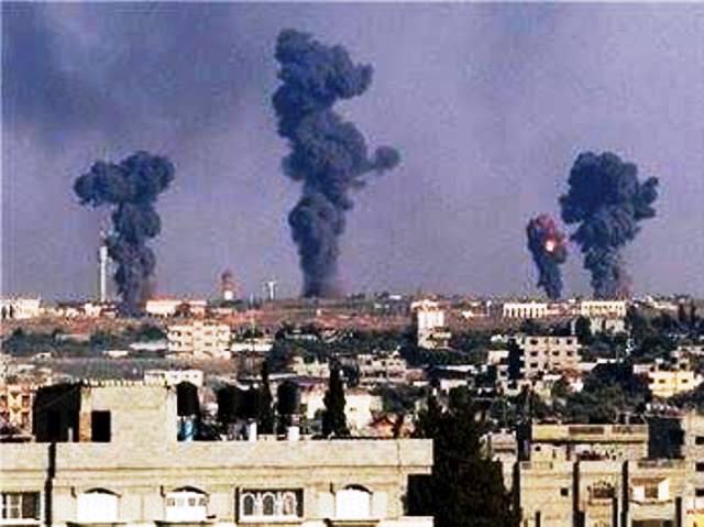 תקיפות ברצועה (צילום: Gaza news now)