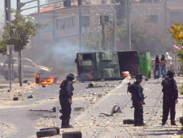 מהומות ויידוי אבנים במזרח ירושלים (צילום: דוברות המשטרה)