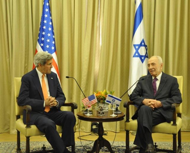 פגישת פרס-קרי (צילום: דוברות בית הנשיא)