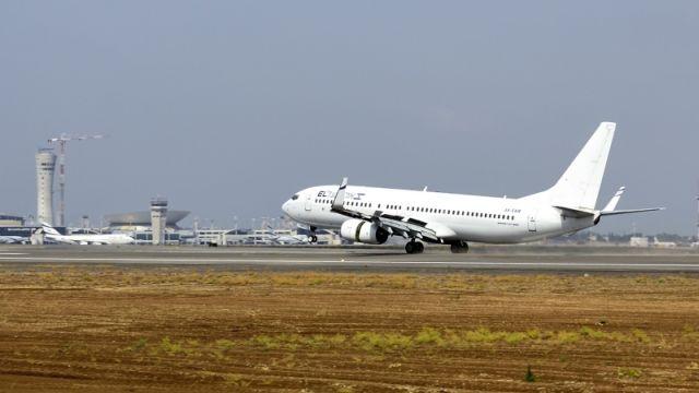 """נחיתת מטוס אל על במסלול 21 ביום פתיחתו לשימוש בחודש מאי השנה. צילום: רש""""ת"""