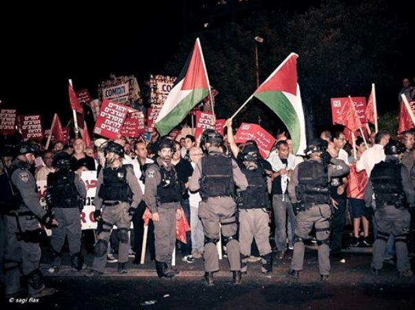 הפגנות נגד המלחמה בעזה בחיפה  (צילום: שגיא פלקס)