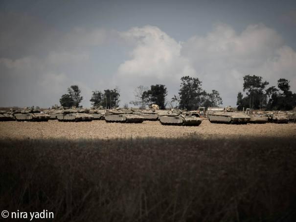 תמונות מהשטח - צוק איתן (צילום: ניריה ידין)