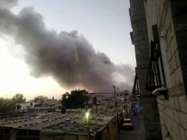 אזור רפיח מותקף הבוקר (צילום: Gaza now)