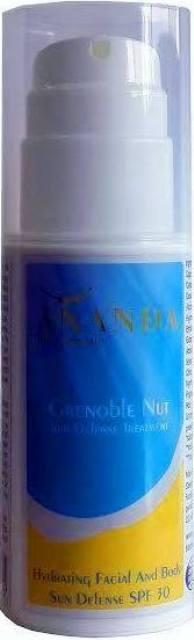 סדרת Grenoble Nut של המותג Ananda - מוצר הגנה SPF 30