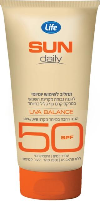סדרת Sun Daily של Life - בין 30 ל-50 SPF
