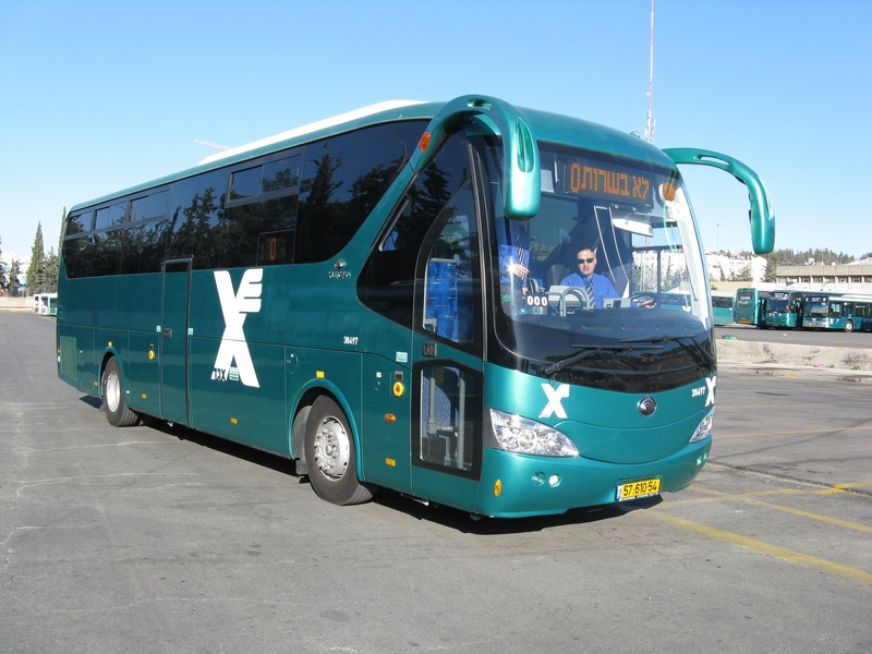 אוטובוס יוטונג חדיש, בניסוי בחברת אגד. צילום אתר אגד