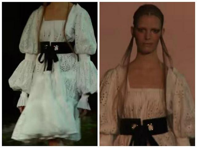 """ימי הביניים, בואכה שנות ה-70:חזרתה של """"השמלה הכפרית"""" בתצוגת סתיו/חורף 2015 של """"אלכסנדר מקווין"""