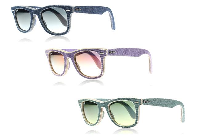 """קולקציית ריי באן ג'ינס נמכרת בשישה צבעים בחנות האונליין של ריי באן (200$) ובישראל במחיר התחלתי של 1,000 שקל. צילומים: יח""""ץ חו""""ל; קולאז': מירה-בל גזית"""