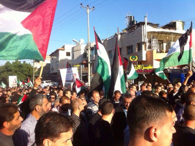 העצרת בכפר (צילום: ודיע וואודה)