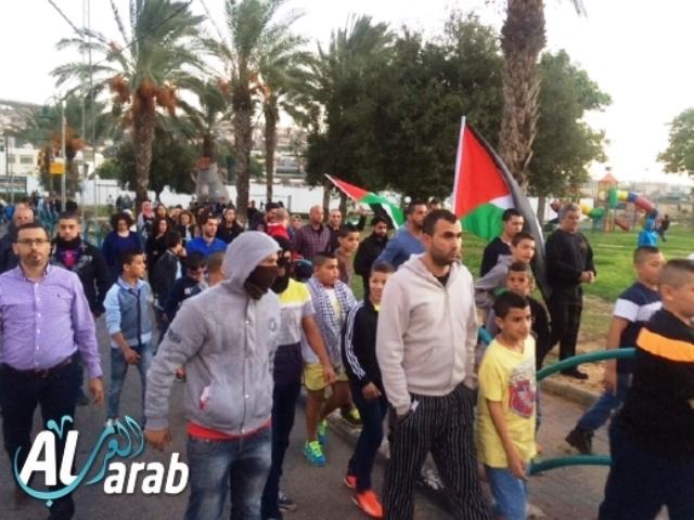 מפגינים בכפר קאסם