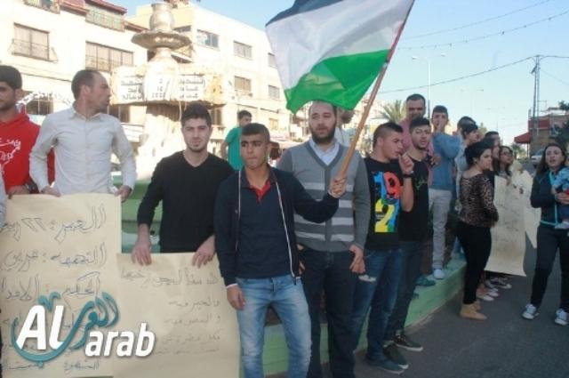 מפגינים בסכנין (צילומים באדיבות אתר Alarab)