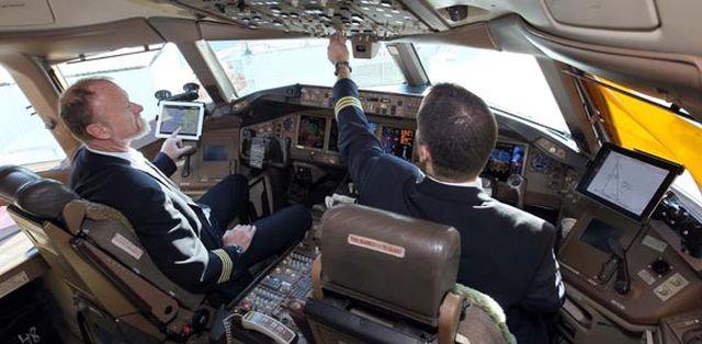 תא הטייסים באל על. צילום סיוון פרג'