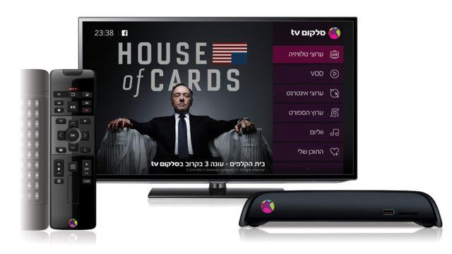 שידורי סלקום tv במסך הביתי הראשי
