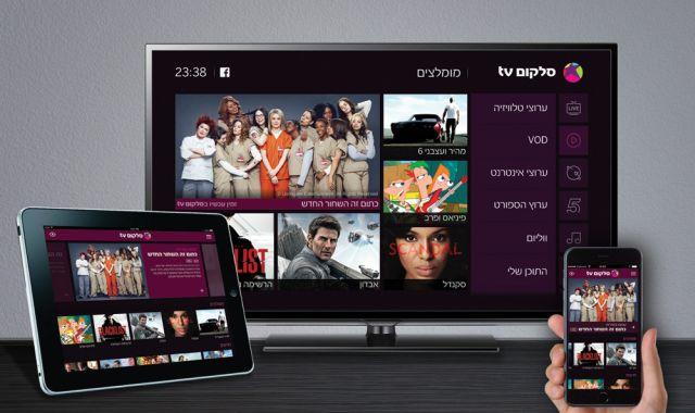 בסלקום tv אפשר לצפות לא רק במסך הביתי הראשי אלא גם בסלולר ובטאבלט