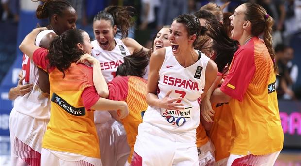 הנבחרת הספרדית במשחקי אליפות העולם לנשים 2014. צילום: fiba.com