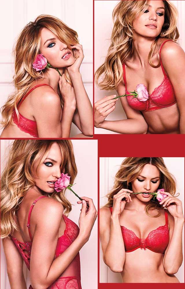 קולקציית וולנטיין'ס דיי 2015. המלאכית קנדיס סוואנפול. צילומים: Victoria's Secret