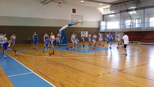 אימון לקראת משחק - יום הגיוס לאקדמיה של איגוד הכדורסל. צילום: איגוד הכדורסל