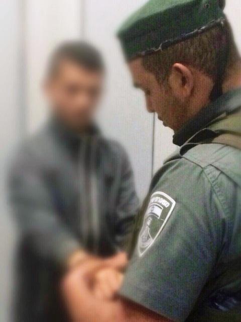 """הצעיר בעת מעצרו (צילום באדיבות מג""""ב)"""