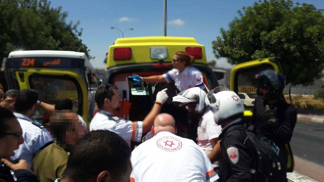 """צוות מד""""א בעת האירוע (צילום: דוברות מד""""א)"""
