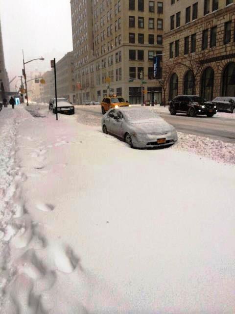 סערת שלג מנהטן הבוקר (ציפי מנשה)