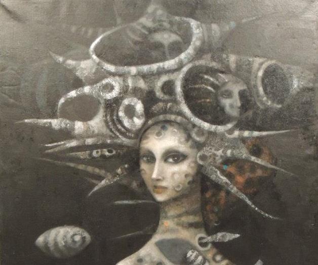 חלק מתוך ציור של איזבל רודריגז, לקוח מתערוכת אומנים דרום אמריקאים שנערכה במארסיי צולם על ידי עמית מנדלזון