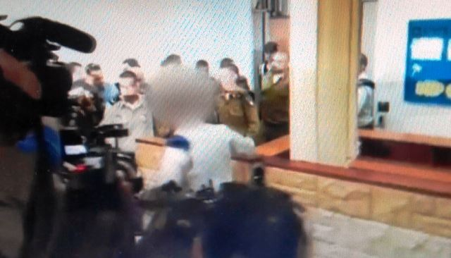החייל בבית הדין הצבאי לערעורים (צילום מסך)