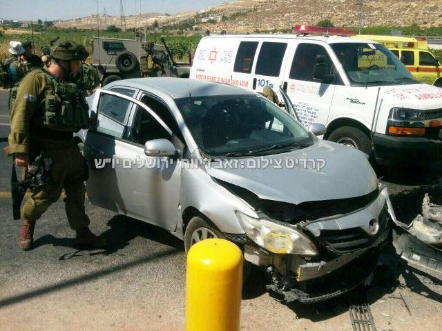 רכב בני הזוג שנפגע