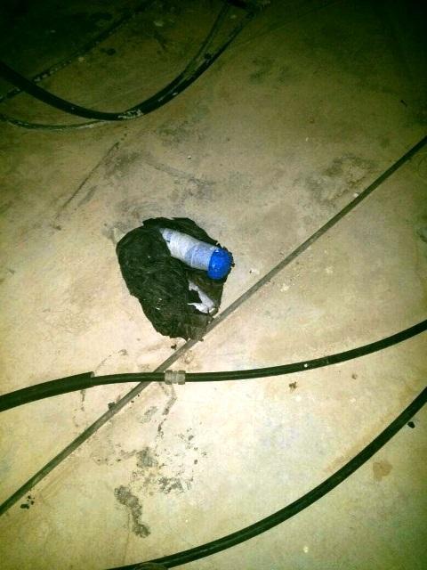 """מטען שנחשף הלילה בבתי המחבלים (צילום: דובר צה""""ל)"""