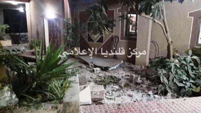 הבתים שנהרסו (צילום: תקשורת פלסטינית)
