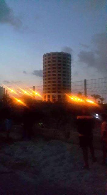 רגע הפיצוץ (צילום: דוברות מכבי האש מחוז חוף)