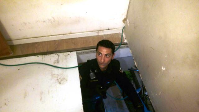 דירת מסתור במלטשה (צילום: חטיבת דובר המשטרה)