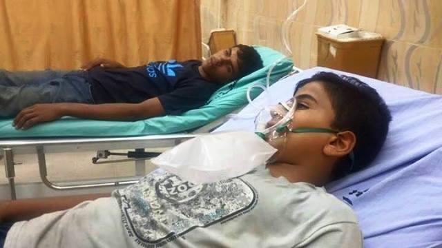 שני נפגעי חרדה (צילום מדף הפייסבוק של Solidarity with Palestine)