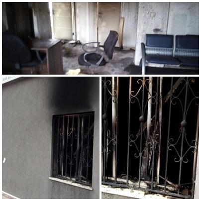 השריפה בטובא זנגירה (צילום: דוברות מכבי האש מחוז חוף)
