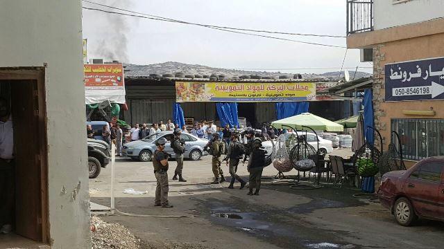 ברטעה היום בצהריים (צילום: דוברות משטרת ישראל)