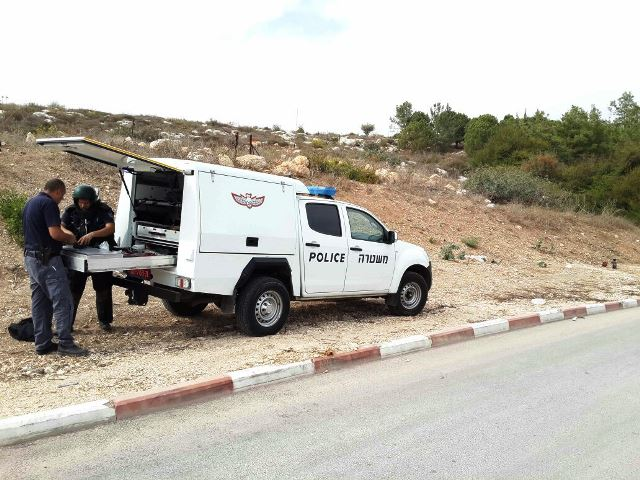 חבלנים הוזעקו לנטרול המטען (צילום: משטרת ישראל)