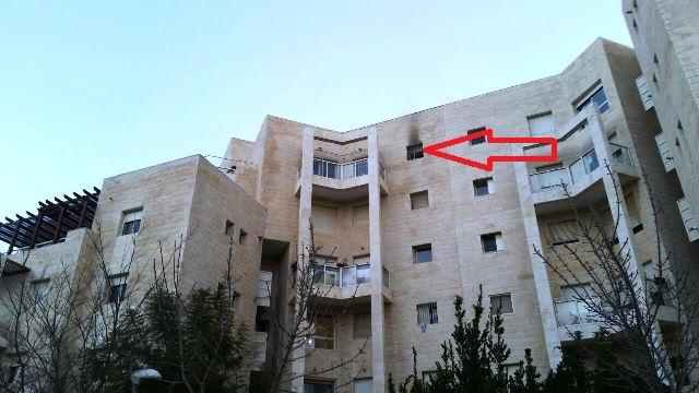 """הדירה בקומה בחמישית (צילום: תיעוד מבצעי מד""""א)"""