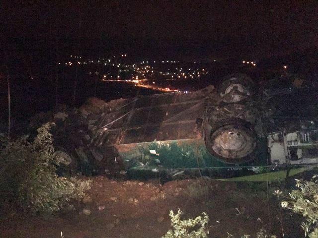 אוטובוס התהפך: 2 הרוגים ו 7 פצועים בהתהפכות אוטובוס לתהום