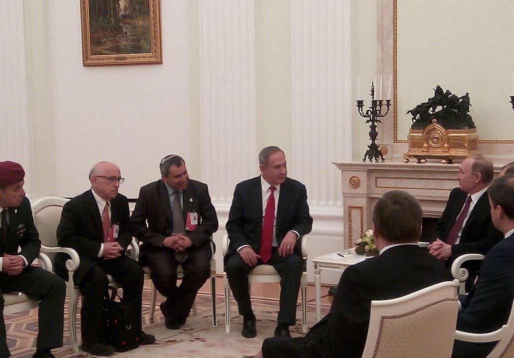 פגישת נתניהו עם נשיא רוסיה פוטין. (צילום: שגרירות ישראל במוסקבה)