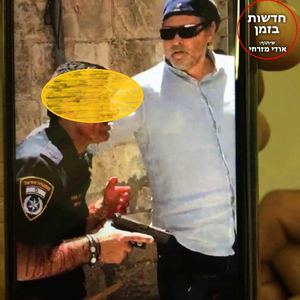 השוטר שניות לאחר האירוע