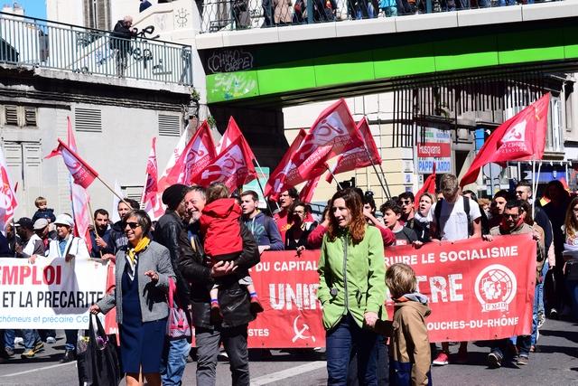 מצעד האחד במאי במארסיי בצל הבחירות