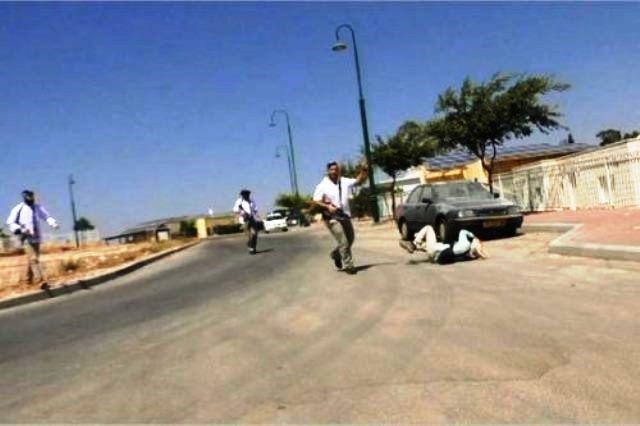 שניות לאחר התקיפה - בוטביה מתגלגל על הקרקע (צילום מסך)