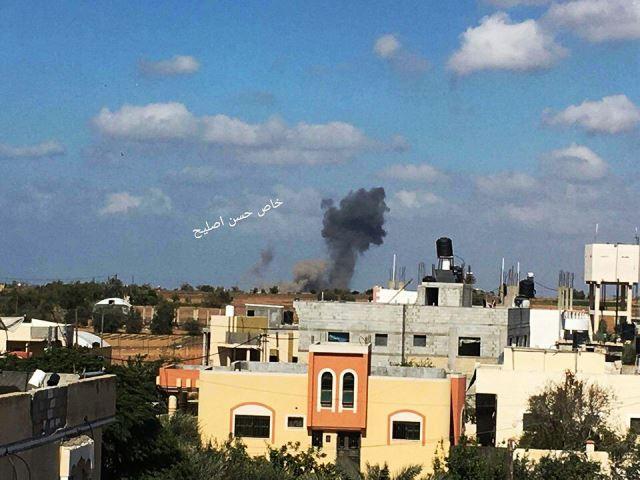 פיצוץ המנהרה (צילום: מקורות פלסטינים)